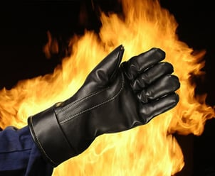 Fire Fighting Leather Hand Gloves