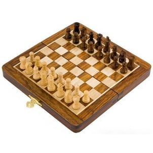 Wooden Magnetic Folding Chess Board