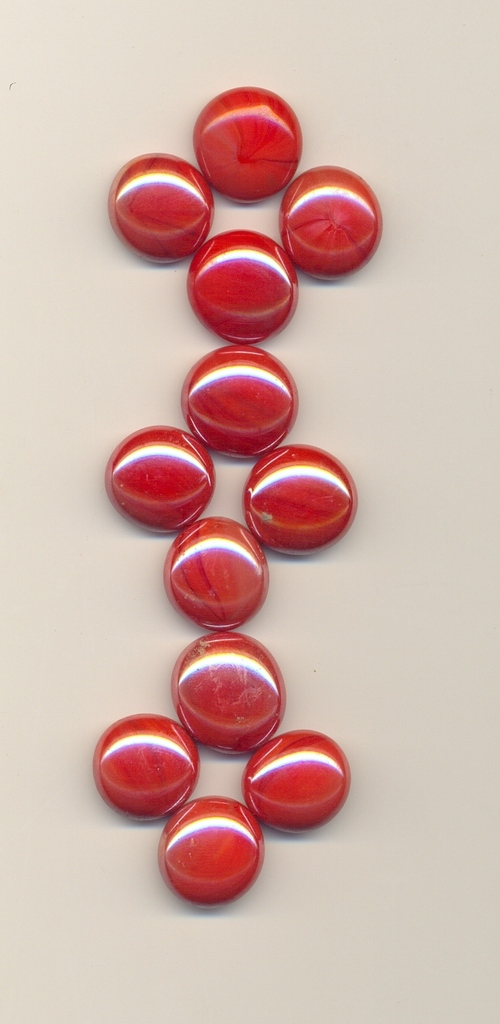 Glass Opal Red 17-19mm Stone