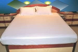 Satin Stripe (White/ Dyed ) Bed Sheets