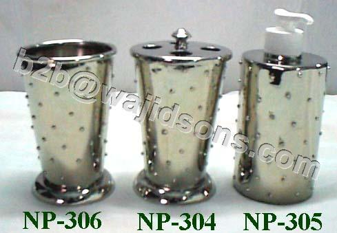 Soap Dispenser Nickel Planter Dotted