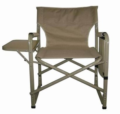 Heavy Steel Director Chair With Table And Side Poecket