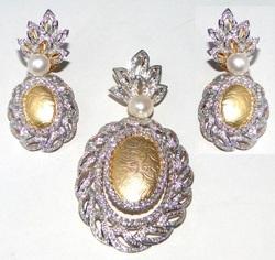 Diamond Pendants Set