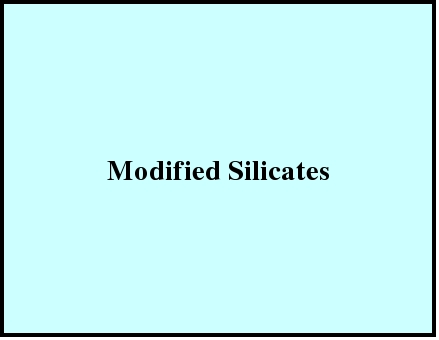 Modified Silicates