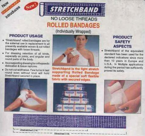 Stretchband Supporting Rolled Bandages