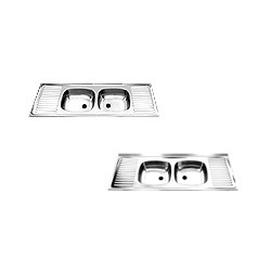 Double Bowl Sink With Double Drain Sinks