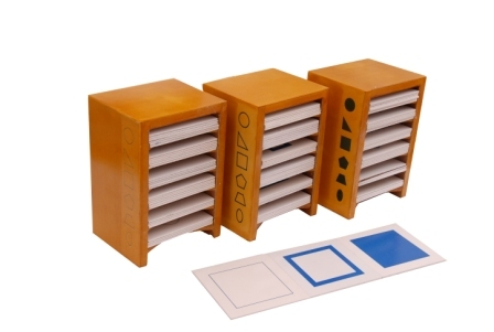 Geometrical Form Cards With Cabinets