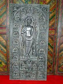 Buddha Carved Door Panel