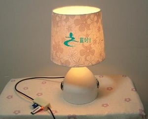 Digital Audio Table Lamp With Touch Dimmable Switch