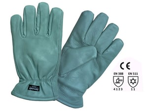 GREEN WATER REPALANT LEATHER GLOVES