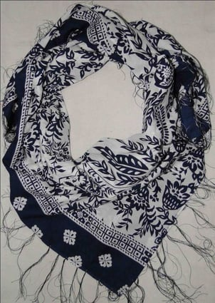 Printed Scarf On Cotton Voile
