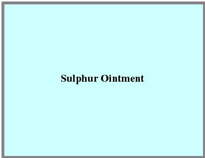 Sulphur Ointment
