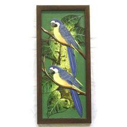 Canvas Bird On Acrylic Painting