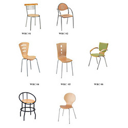 Cafe Chair With Rubber Wood