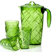 Plastic Pitcher/Jug With Tumblers