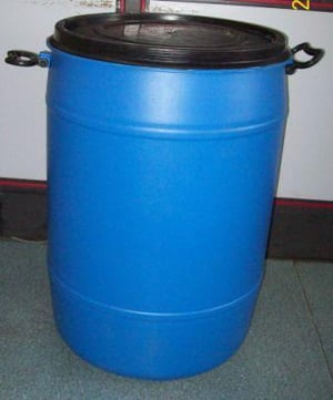 HDPE Drums- Blue and Black