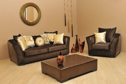 Angelina Brown Sofa Sets