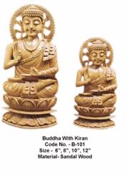 Sandalwood Buddha Sculpture