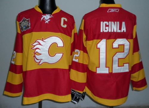 newest 27c79 66e6a NHL Jerseys Calgary Flames #12 Iginla Red [Winter Classic ...