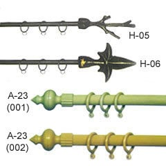 Stardust And Wrought Iron Curtain Rods