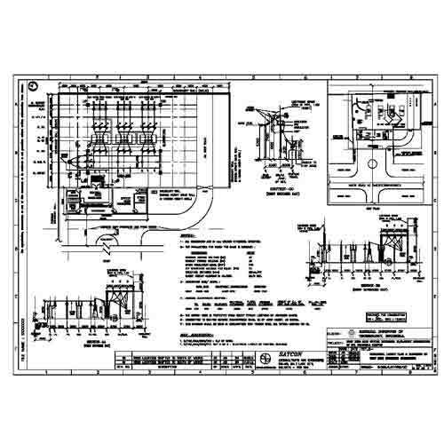 Electrical layout elevation 220kv switchyard in new town for Substation design pdf
