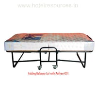 Folding Rollaway Cot with Mattress