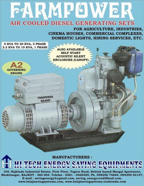 Advanced Air Cooled Diesel Generating Set