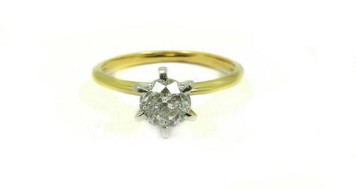 1.01 Ct Emerald Cut Diamond Egl Certified J K Si 18k Yellow Gold Ring