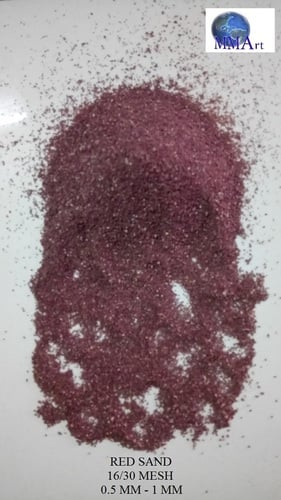 Red Color Solid Granular Sand For Industrial Application