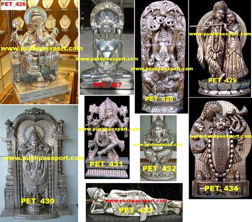 Silver God Statue And Idols
