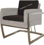 Synthetic Rattan Designer Chair