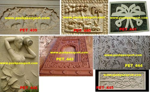 White Marble Engraved Wall Panel