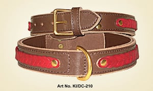 Leather Knitted Dog Collar