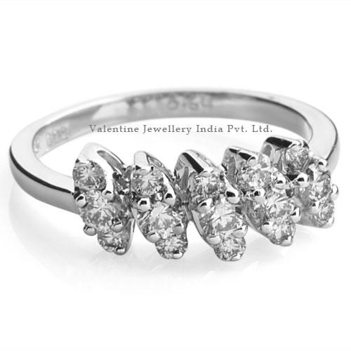 Pressure Setting Gold Diamond Ring