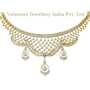 Wedding Diamond Gold Necklace Jewelry