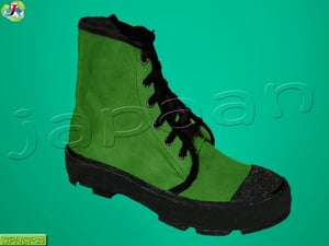 Canvas Green Ankle Boot