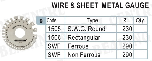 Wire And Sheet Metal Gauge