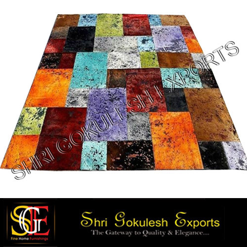 Leather Patch Work Carpets