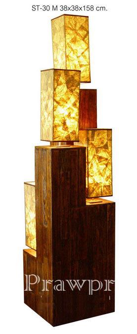 Modern Stack Light Wooden Art Floor Lamp