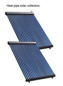 Artistic Style Separated Pressurized Heat Pipe Solar Collector