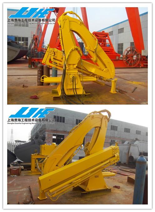Hydraulic Boom Joint : T hydraulic knuckle boom marine crane in shanghai