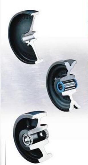 Hard Tread Cast Iron Wheels