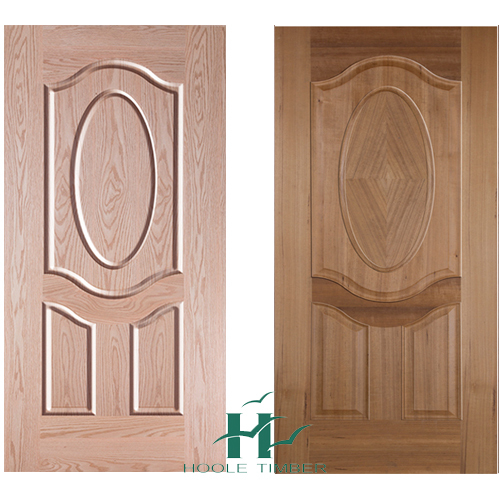 HDF Natural Ash and Teak Veneer Molded Door Skin