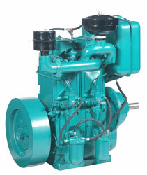 Diesel Engine Double Cylinder Water Cooled
