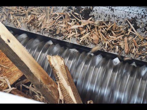 Waste Wood Pallet Shredding