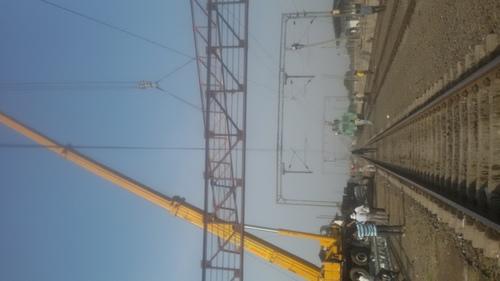 Hydraulic Crane At Railway Projects