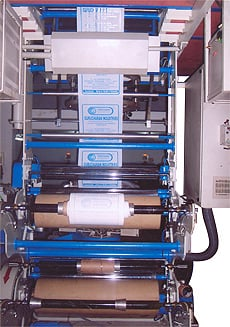 Two Color Online Printing Machine