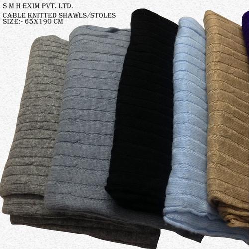 Cable Knitt Baby Blanket