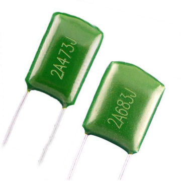 Through Hole Mylar Capacitor Polyester Film Metal Foil In