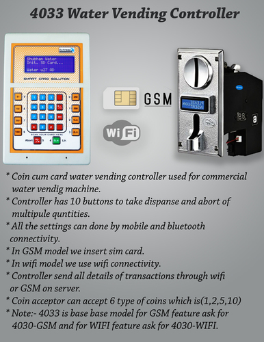 Water Vending Controller Coin Based